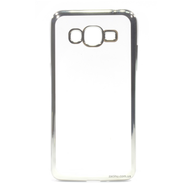 Чехол накладка для Samsung G532F J2 Prime (2016) Прозрачный / серебристый