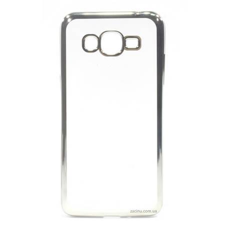 Чехол накладка для Samsung G532F J2 Prime (2016) Прозрачный / серебристый, фото 2
