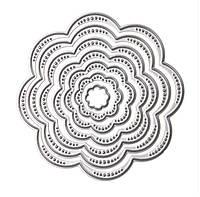 """Ножи для вырубки набор из 7 шт """"Цветок восьмилистник"""" для фоамирана, бумаги, фетра, для скрапбукинга , фото 1"""