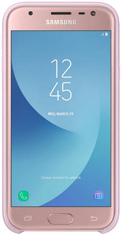 Чохол-накладка Samsung EF-PJ330CPEGRU для Samsung J330 J3(2017) Dual Layer ser. Pink, фото 2