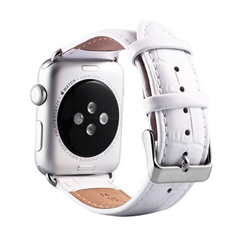 Ремінець Fasion для Apple iWatch 42mm Шкіра Білий
