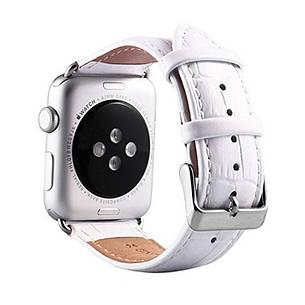 Ремінець Fasion для Apple iWatch 42mm Шкіра Білий, фото 2