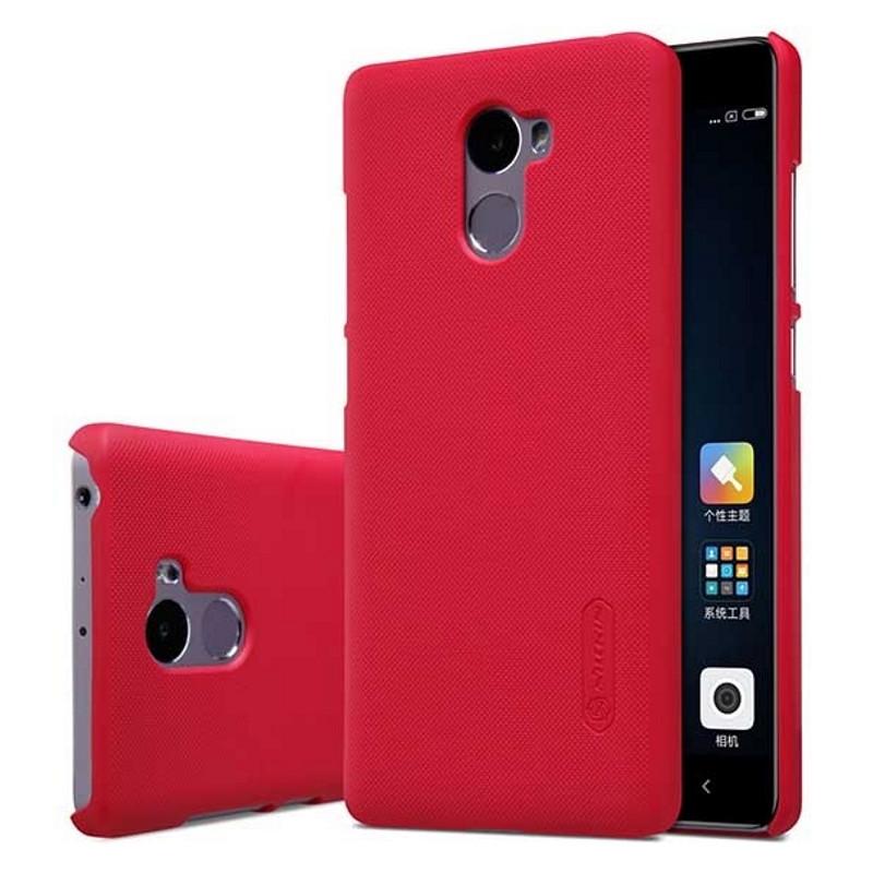 Чехол накладка Nillkin для Xiaomi Redmi 4 Matte ser. + Пленка Красный (133662)