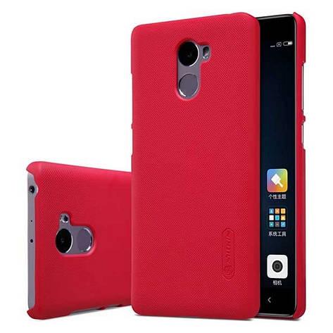 Чехол накладка Nillkin для Xiaomi Redmi 4 Matte ser. + Пленка Красный (133662), фото 2