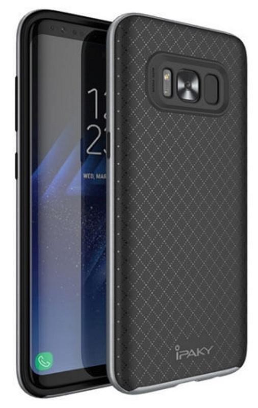 Чохол-накладка iPaky для Samsung G955 S8 Plus TPU+PC Чорний/сірий(343748)