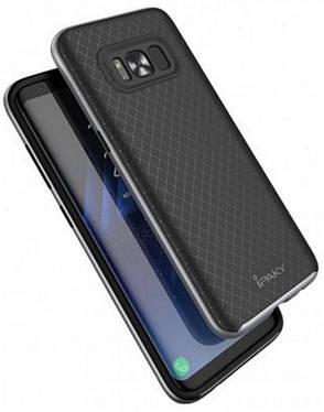 Чохол-накладка iPaky для Samsung G955 S8 Plus TPU+PC Чорний/сірий(343748), фото 2