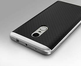 Чохол-накладка iPaky для Xiaomi Redmi Note 4X TPU+PC Чорний/сріблястий, фото 2