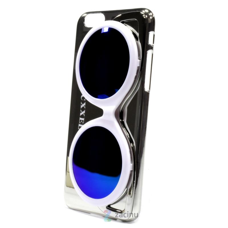 Чехол накладка Cxxel для iPhone 6 / 6S Sunglasses Case ser. серебристый