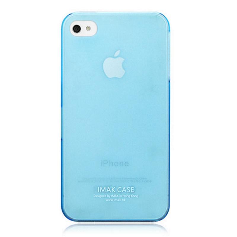 Чехол накладка IMAK iPhone 4 / 4S Сolor ser. 0.7mm Бирюзовый