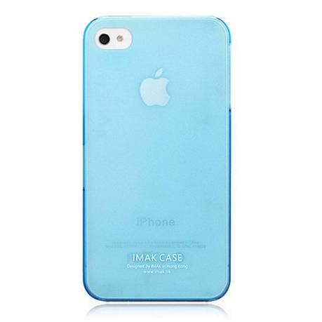Чехол накладка IMAK iPhone 4 / 4S Сolor ser. 0.7mm Бирюзовый, фото 2