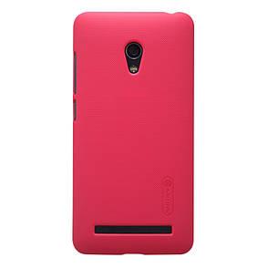 Чехол накладка Nillkin для Asus Zenfone 5 Life (A502CG) Matte ser. + Пленка Красный (225348), фото 2