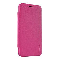 Чехол книжка Nillkin для Samsung J200H J2 Duos Sparkle ser. розовый, фото 2