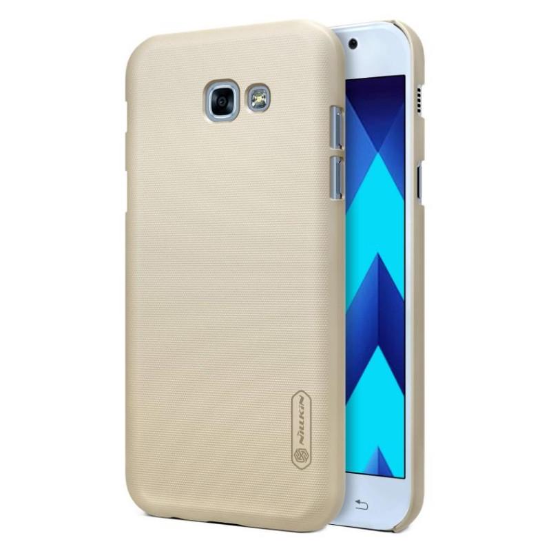 Чехол накладка Nillkin для Samsung A520F A5 (2017) Matte ser. + Пленка Золотистый (136441)