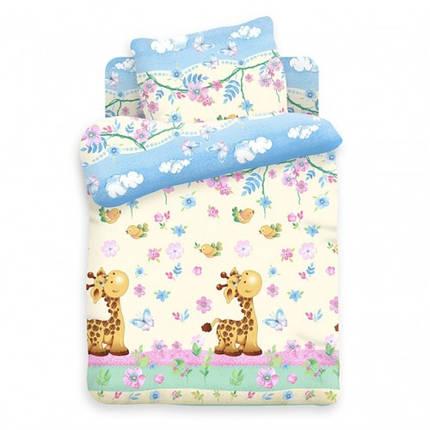 Постельное белье Веселый жирафик поплин ТМ Царский дом в кроватку, фото 2