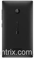 Задняя крышка для Microsoft (Nokia) 435 Lumia Dual Sim, 532 (RM-1069), черная, оригинал