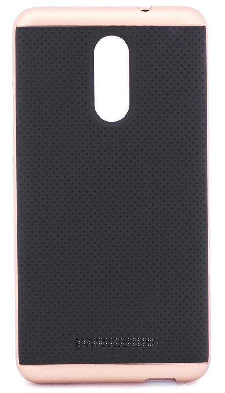 Чохол-накладка iPaky для Xiaomi Redmi Note 3/ Redmi Note 3 Pro TPU+PC Чорний/rose gold(293791)