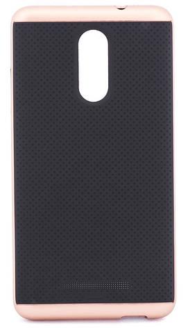 Чохол-накладка iPaky для Xiaomi Redmi Note 3/ Redmi Note 3 Pro TPU+PC Чорний/rose gold(293791), фото 2