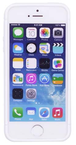Чехол накладка TPU для iPhone 5 / 5S / SE KMC Белый, фото 2