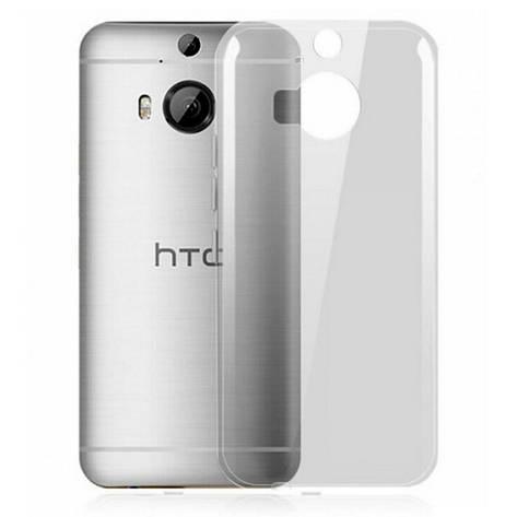 Чохол-накладка TPU для HTC One/ M9 Plus Ultra-thin ser. Прозорий/безколірний, фото 2