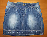 Юбка летняя джинсовая для девочки.  , фото 1