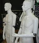Мужской манекен лакированный серебряный, фото 2