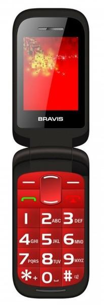 Мобільний телефон BRAVIS CLAMP (red)