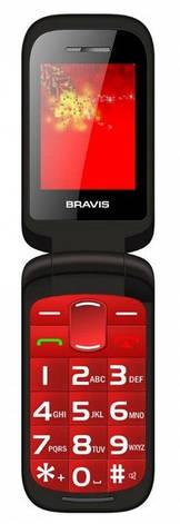 Мобільний телефон BRAVIS CLAMP (red), фото 2