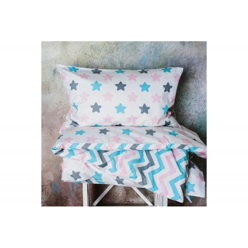 Постельное белье Звезды -прянички розовые поплин ТМ Царский дом в кроватку