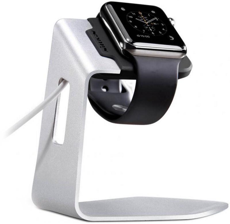 Док-станція Nillkin для Apple iWatch C.Stand ser. Сріблястий/чорний