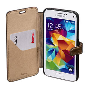 Чохол-книжка Hama для Samsung G800H S5 mini Prime Line ser. Коричневий, фото 2