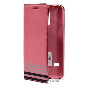 Чохол-книжка Hama для Samsung G800H S5 mini Primrose ser. Рожевий, фото 2