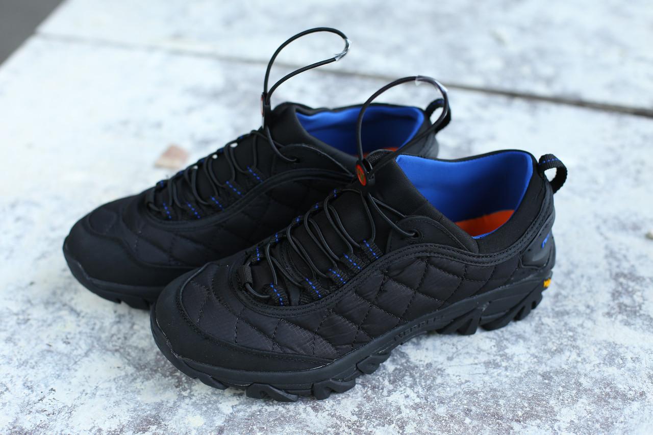 Мужские кроссовки в стиле Merrell чёрно-синие  (реплика)