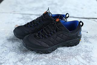 Мужские кроссовки в стиле Merrell чёрно-синие  (реплика), фото 3