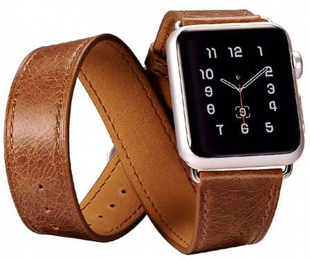 Ремінець Icarer для Apple iWatch 38mm Classic Genuine Leather ser. Темно-коричневий(992827), фото 2
