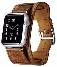 Ремінець Icarer для Apple iWatch 38mm Classic Genuine Leather ser. Темно-коричневий(992827), фото 3