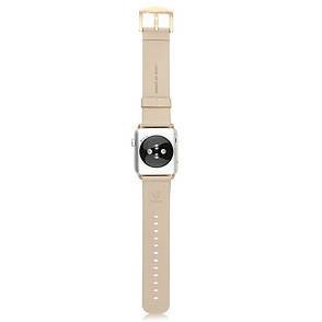 Ремінець Baseus для Apple iWatch 42mm Malibu ser. Шкіра Кремовий-золотистий, фото 2