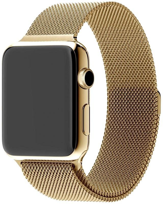 Ремінець для Apple iWatch 42mm Milanese Loop Band ser. Golden(993701)