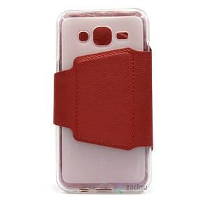 Чохол-книжка iMAX для Samsung J500H J5 Smart Case ser. Червоний(332825), фото 2