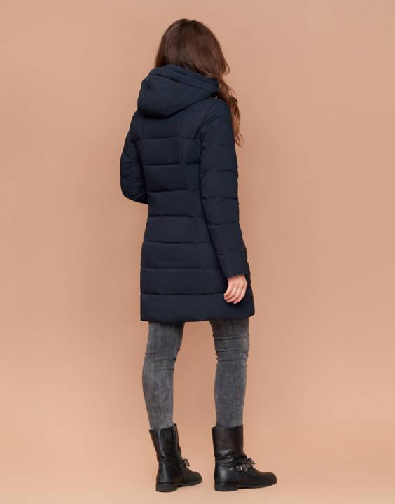Зимняя женская куртка пуховик синяя, фото 2