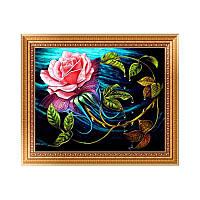 Алмазная вышивка Розовая роза 30х40