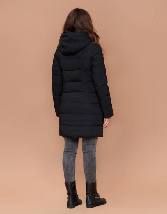 Зимняя женская куртка пуховик черная, фото 2