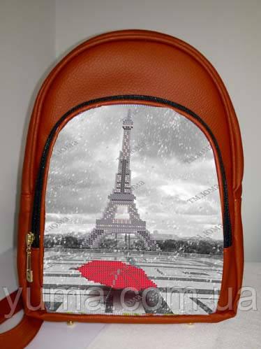 Сумка-рюкзак для вышивки бисером   Рюкзак Модель 2 С17 красный кожзам
