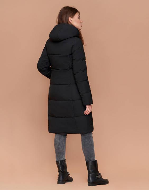 Пуховик женский длинный черный, фото 2