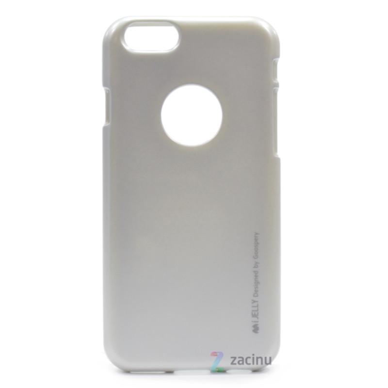Чехол накладка Mercury для iPhone 6 / 6S iJelly Metal ser. TPU Серебристый (289015)