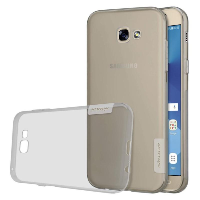 Чехол накладка Nillkin для Samsung A520F A5 (2017) Nature ser. Прозрачный / серый (136649)