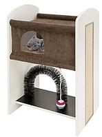 Мебель для кошек с игоровой зоной и когтеточкой LEO FERPLAST