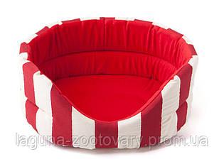 Лежак Comfy MARINE L 58x52x21 красный, для собак и кошек