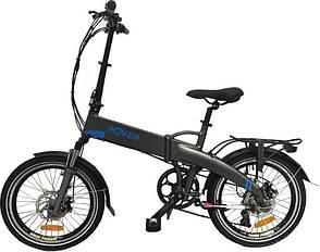 Електровелосипед ROVER Fold Grey-blue, фото 2