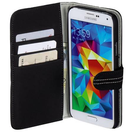 Чохол-книжка Hama для Samsung G900 S5 Nubuk ser. Чорний, фото 2