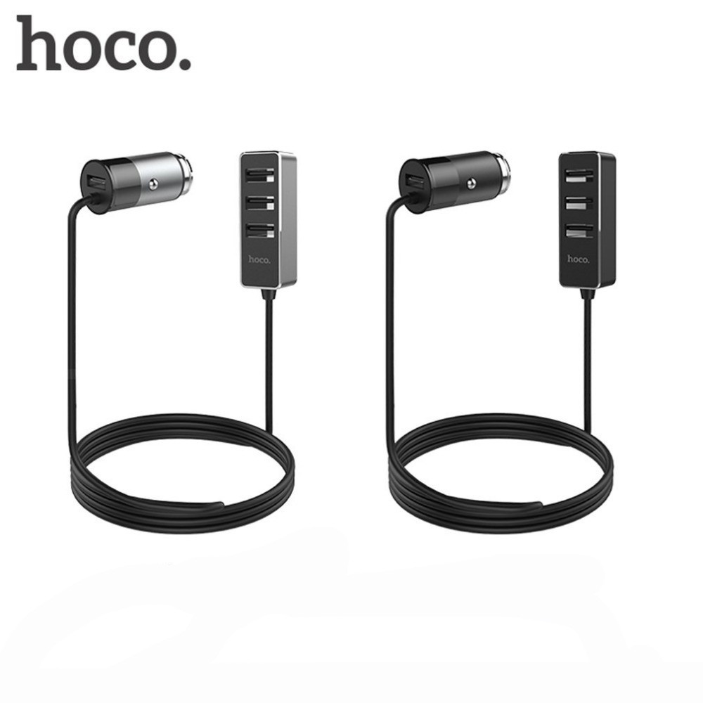 АЗУ Hoco Z17B with extender (4USB, 5.5А) \  black